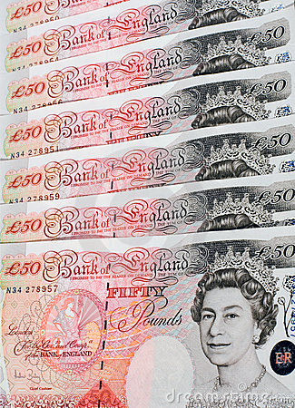 Fifty Pound Notes - Great Britain Editorial Photography