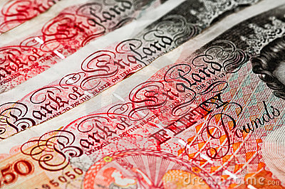Fifty pounds sterling - UK Currency - Macro