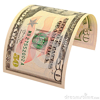 Free Fifty US Dollars Isolated. Stock Photos - 47460653