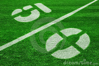 Fifty yard line-diagonal