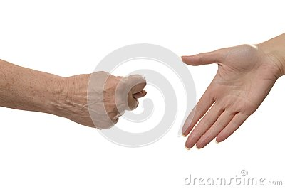 Fig hand sign isolated Stock Photo