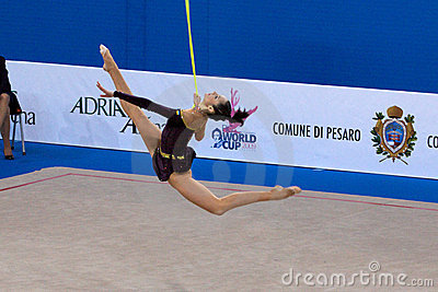 FIG Rhythmic Gymnastic WORLD CUP PESARO 2009 Editorial Stock Image
