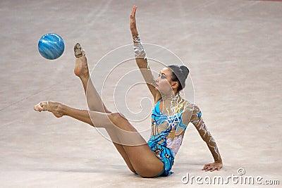 FIG Rhythmic Gymnastic WORLD CUP PESARO 2009 Editorial Stock Image