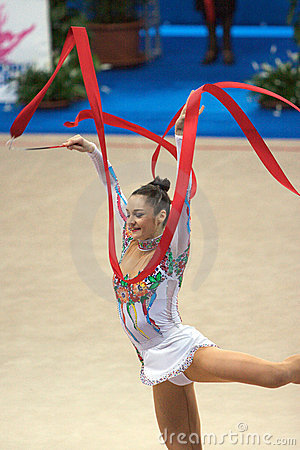 FIG Rhythmic Gymnastic WORLD CUP PESARO 2009 Royalty Free Stock Photos - Image: 15120428
