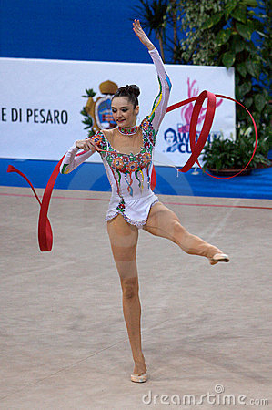 FIG Rhythmic Gymnastic WORLD CUP PESARO 2009 Editorial Stock Photo