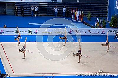 FIG Rhythmic Gymnastic WORLD CUP PESARO 2009 Editorial Image