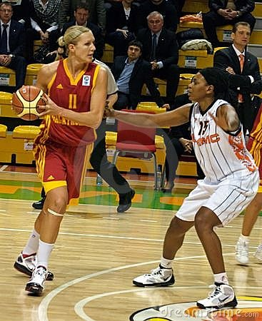 The fight for the ball. Euroleague 2009-2010. Editorial Photo