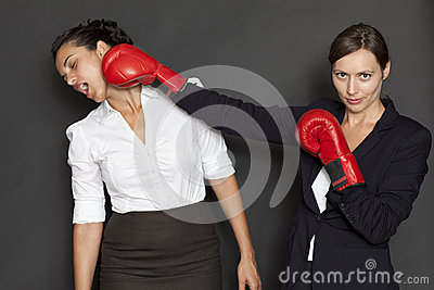 Fight between businesswoman