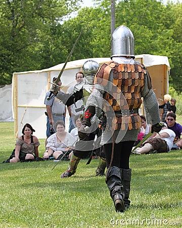 Fight reenactment renaissance festival Editorial Stock Image