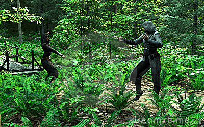Fight in the Woods