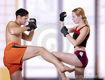 Fight of young couple