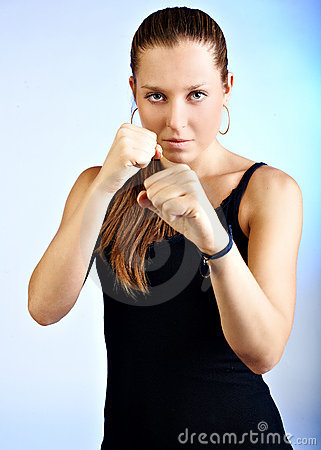 Free Fighter Girl Stock Photo - 16438880
