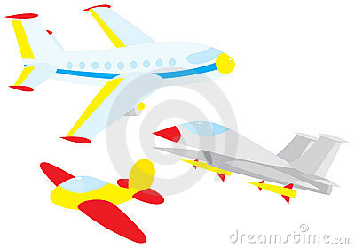 Fighter, glider and airliner