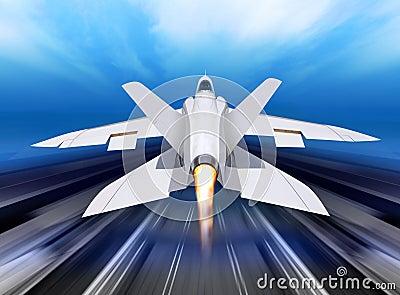 Fighter-interceptor aircraft Stock Photo