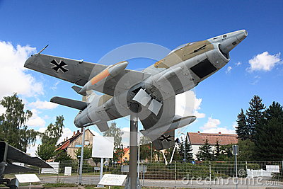 Fighter jet on display Editorial Stock Photo