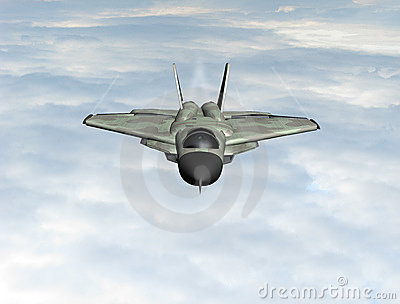 Fighter plane in the sky