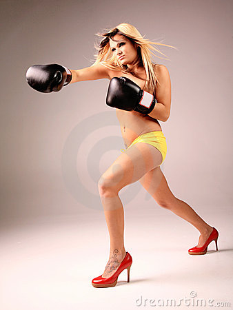 Free Fighter Woman Stock Image - 5014451