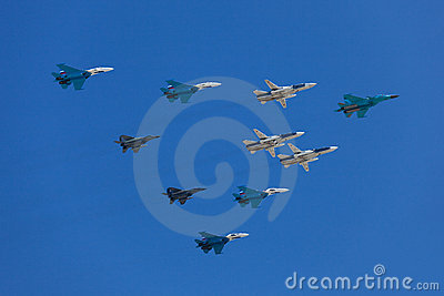 Fighters in the skies Editorial Image