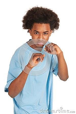 Free Fighting Black Boy Royalty Free Stock Photos - 24030678