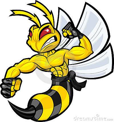 Free Fighting Hornet Royalty Free Stock Photos - 15686798