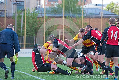 Fighting in the rugby field