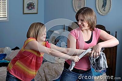 Fighting sisters