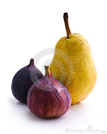 Still life with figs and pears