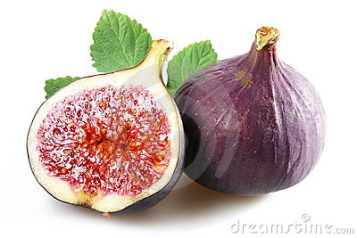 Figs with cut fruit