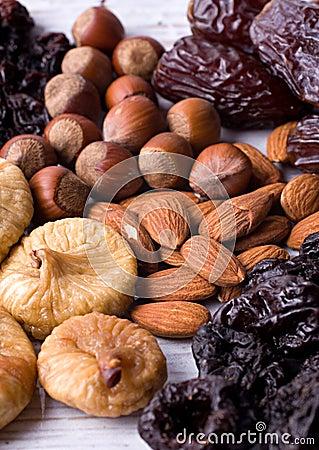 Free Figs, Hazelnuts, Almond, Prune Stock Images - 2281804