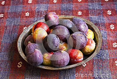 Figs and red plum