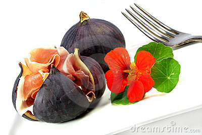 Figs with Serrano ham