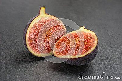 Figs on slate plate