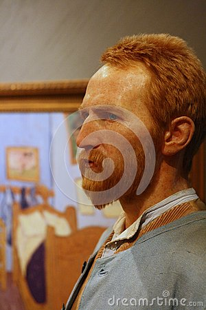 Figura de cera de Van Gogh Foto Editorial