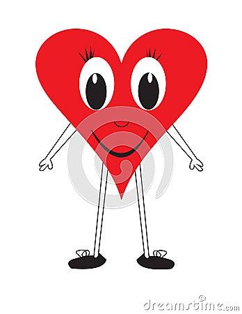 Figura de sorriso do coração do amor