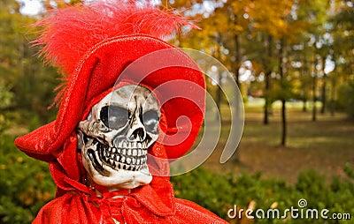 Figura de Víspera de Todos los Santos de la muerte roja