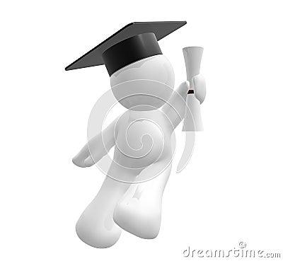 Figura del icono de la graduación