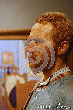 Figura di cera di Van Gogh Fotografia Editoriale