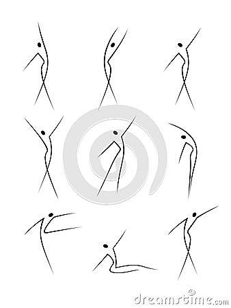 Figuras abstratas no movimento