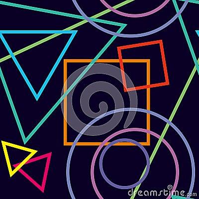 Figuras geom tricas abstractas en fondo azul marino tex for Imagenes abstractas 3d