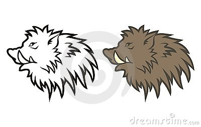 Figure boar s head