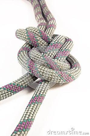 Figure eight knot isolation on white background