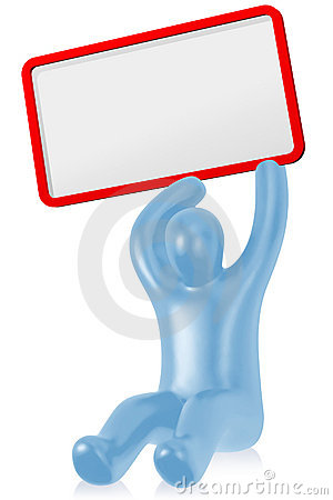 Figure with empty board