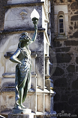 Figure and fragment of facade Palace Bussaco