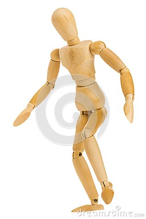 Free Figure In Standing Tiptoe Pose Royalty Free Stock Photography - 115347997