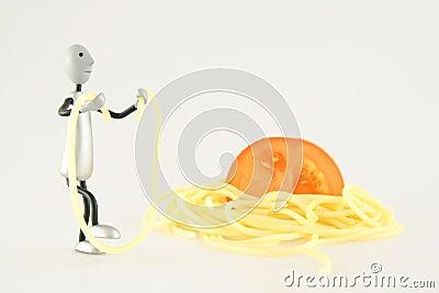 Figure jumps on spaghetti