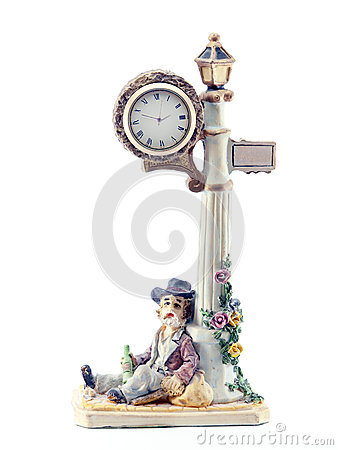 Figure lantern clock and drunk
