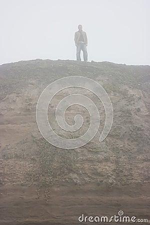 Figure in mist