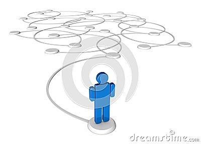 Figure networked pedestals