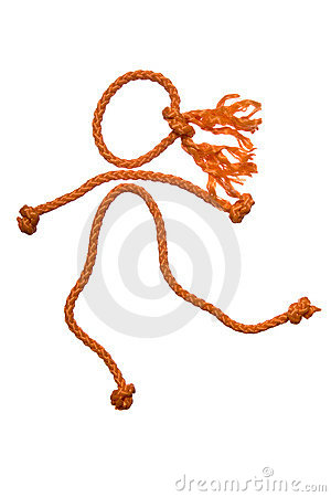 Figure of the people from rope