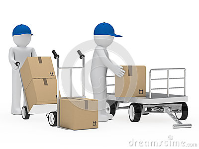 Figure pick up a package